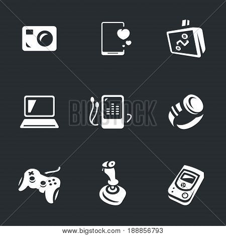 Camera, smartphone, navigator, laptop, player, clock, joystick, manipulator, sensor.