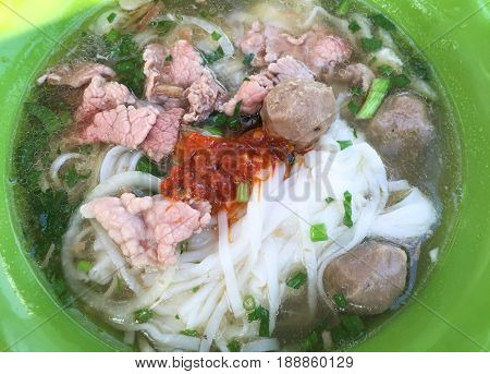 Bowl Of Vietnamese Pho Noodle Soup