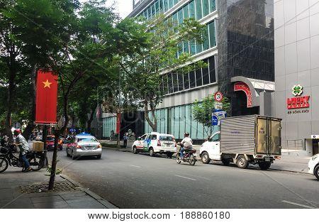 Street At Downtown In Saigon, Vietnam