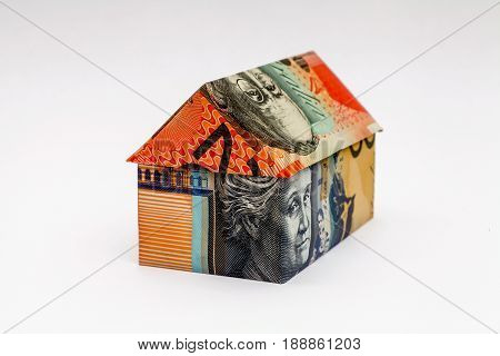Origami house made with Australian Note Money