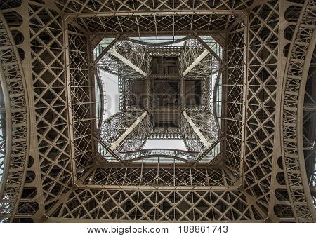 Steelworks Of The Eiffel-tower At Paris