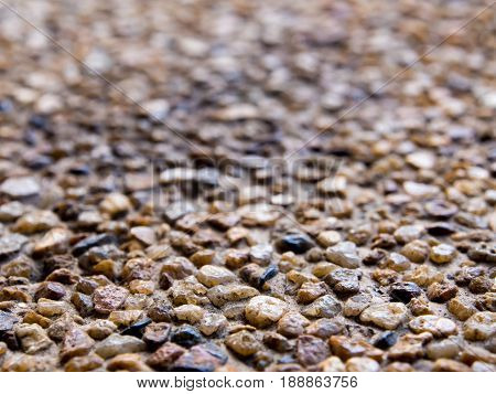 Texture of the exposed aggregate finish flooring non slip