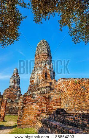 Ayuthaya, Thailand - December 20 2016: Wat Phra Ram Temple In Ayuthaya Historical Park, A Unesco Wor