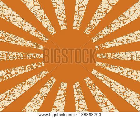 Radiating, converging lines, rays background. Known as star burst, sunburst background. illustration. Grunge cracked texture