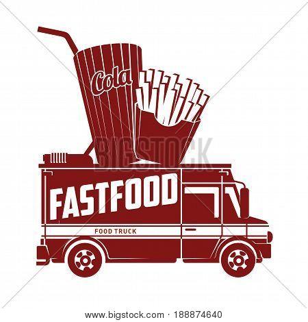 Fast Food Vector Flat Illustration