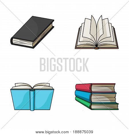 Various kinds of books. Books set collection icons in cartoon style vector symbol stock illustration .