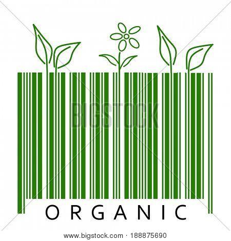 Organic plant in bar code
