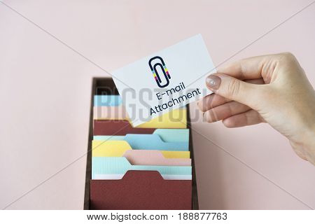 Paper Clip Mail File Attachment Graphic