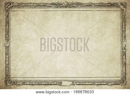 Highly detailed image of grunge vintage frame
