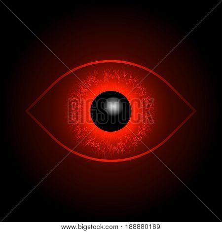 Red Eye Ball. Horus eye insane bloodseeker.