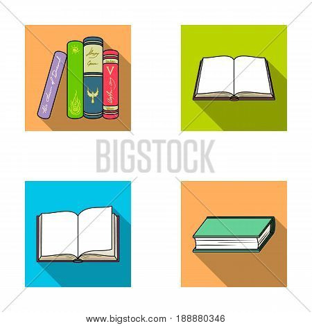 Various kinds of books. Books set collection icons in flat style vector symbol stock illustration .