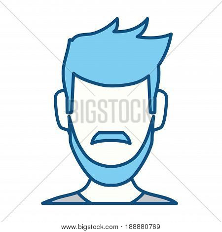 Anonymous man faceless icon vector illustration graphic design