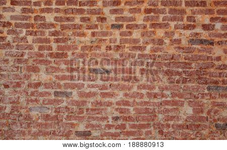 Vintage texture of red wall brick for grunge background