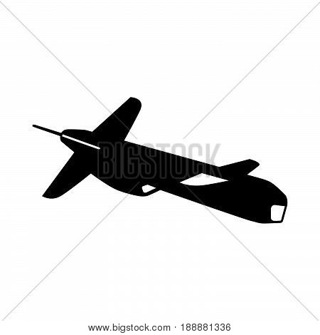 Cruise missile ( shade picture ) on white background