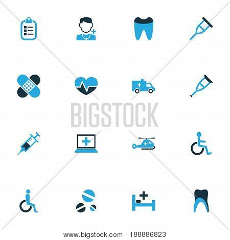 Drug Colorful Icons Set. Collection Of Medic, Vaccine, Clipboard And Other Elements. Also Includes Symbols Such As Man, Heart, Helicopter.