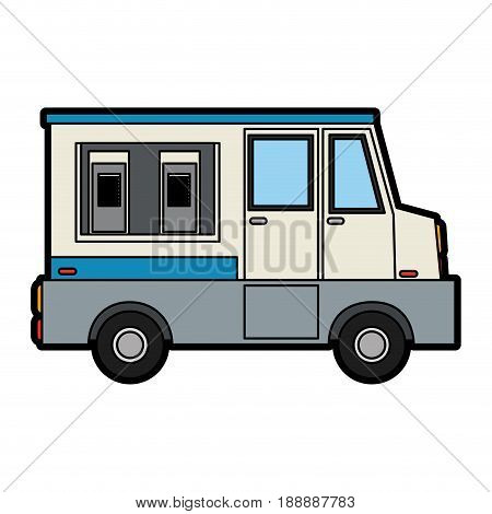 food truck sideview icon image vector illustration design