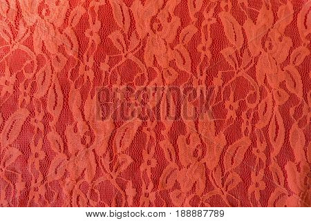 Close Up Of Apricot Color Guipure Lace