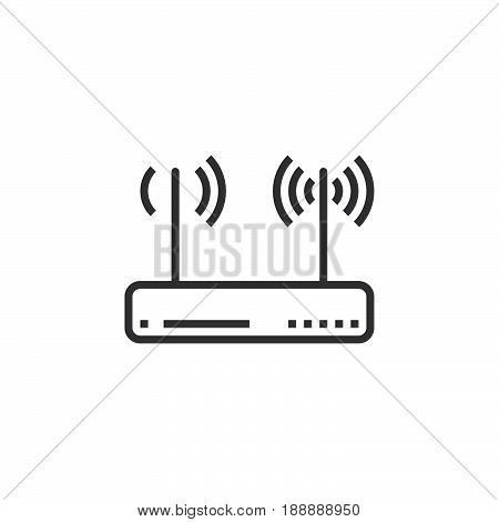 Wifi Router, Wireless Dsl Modem Icon Vector, Filled Flat Sign, Solid Pictogram Isolated On White, Lo