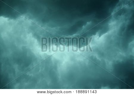 Background of dark clouds before a thunderstorm