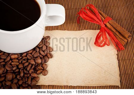 Coffee Cup, Crops And Paper