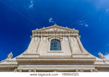 The Mother Church Of St. George The Martyr Church In Locorotondo, Puglia, Italy