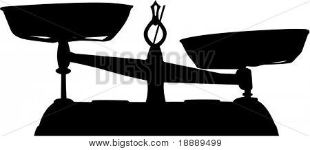 vector image of scales on white background