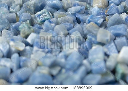 Azul Boquira Granite, Crushed Granite Blue Background