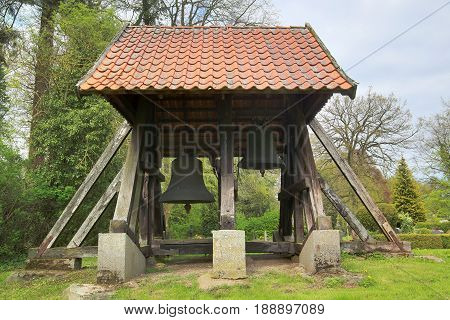 Bellcage Of Church In Behrenhoff, Mecklenburg-vorpommern, Germany