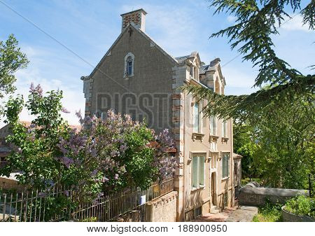 abbot Sauniere house rennes le chateau city in Aude France