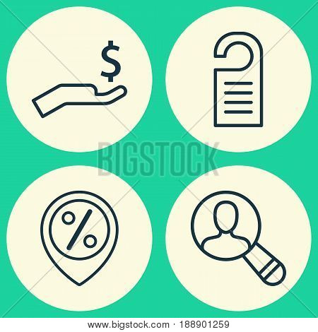 E-Commerce Icons Set. Collection Of Rich, Price, Spectator And Other Elements. Also Includes Symbols Such As Onlooker, Sale, Marker.