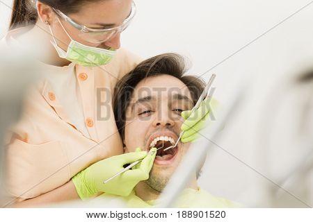 Dental clinic,beautiful dentist