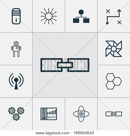 Artificial Intelligence Icons Set. Collection Of Lightness Mode, Atomic Cpu, Mainframe And Other Elements. Also Includes Symbols Such As Board, Microprocessor, Processor.