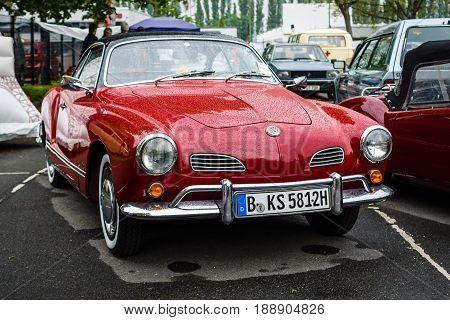 BERLIN - MAY 13 2017: Sports car Volkswagen Karmann Ghia Typ 14. Exhibition