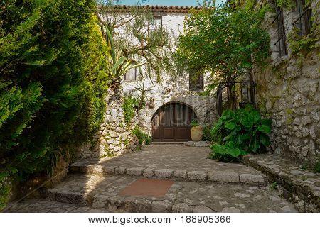 Old Buildings In Village Eze