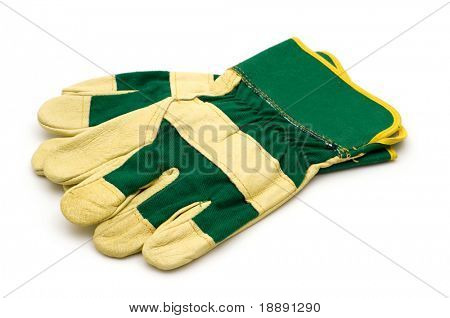 building gloves on white background