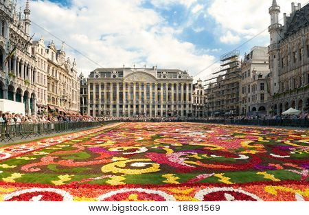 Beautiful Brussels flower carpet made from fresh begonias year 2008 no faces no trademarks