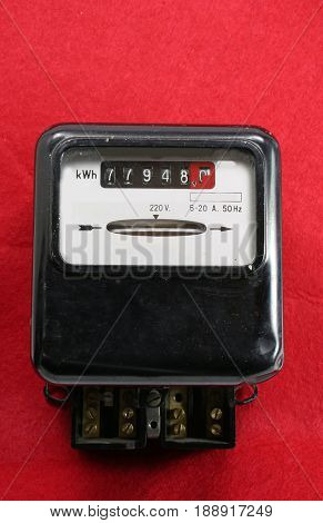 Electricity Meter For Measuring The Energy Consumption Of Househ