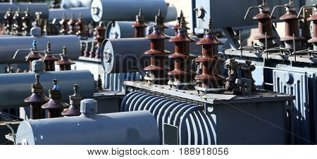 Voltage Transformers In A Polluting And Hazardous Electrical Sto