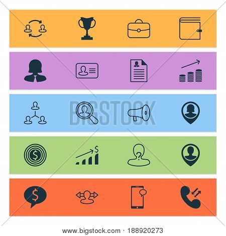 Hr Icons Set. Collection Of Employee Location, Anonymous, Business Woman And Other Elements. Also Includes Symbols Such As Female, Opinion, Search.