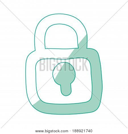 Padlock security device icon vector ilustration secure