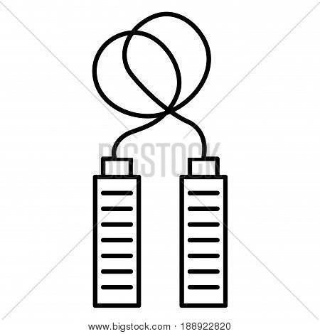 rope jump gym icon vector illustration design