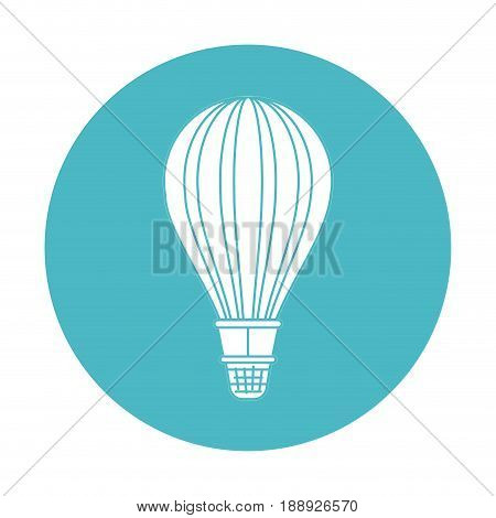 circle light blue with hot air balloon vector illustration