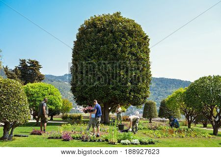 Gardeners Working At Garden Franciscan Monastery