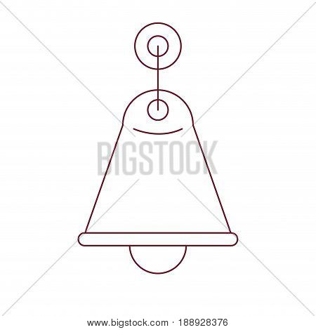 dark red line contour of wall light sconce vector illustration