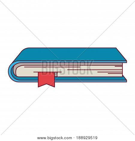 colorful graphic of book with bookmark vector illustration