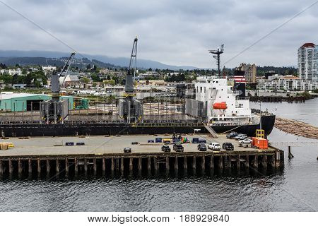 A Huge Freighter in Nanaimo Dry Dock