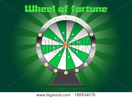Shine Wheel Of Fortune In Green Color