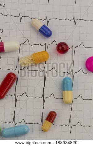 tablets on an ekg