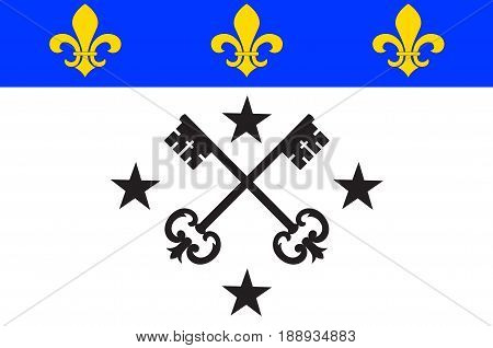 Flag of Lisieux is a commune in the Calvados department in the Normandy region in northwestern France