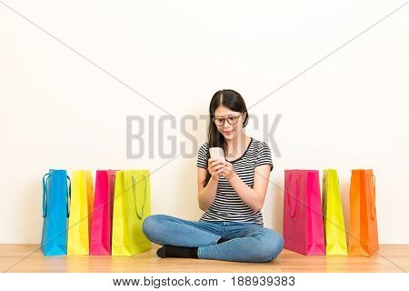 Student Using Mobile Phone Online Shopping